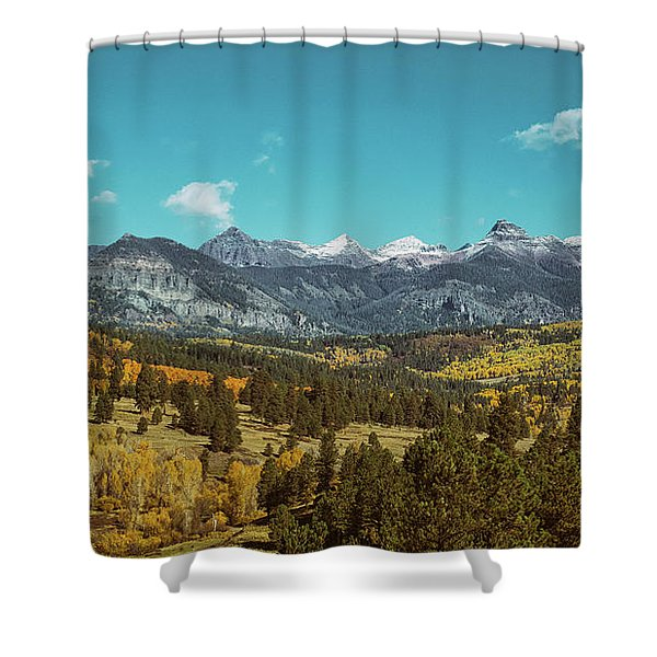 Shower Curtain featuring the photograph Autumn At The Weminuche Bells by Jason Coward