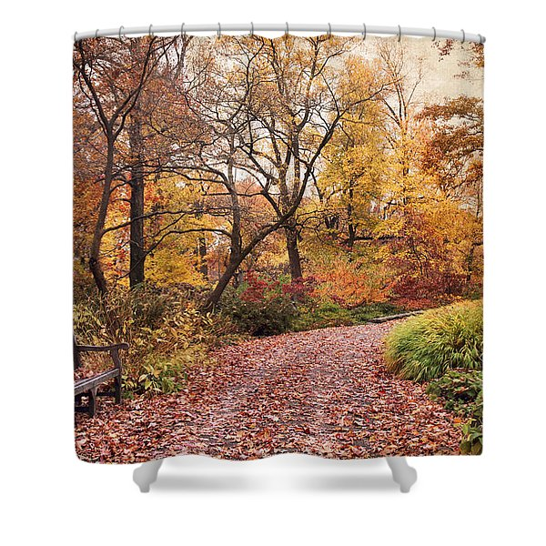 Autumn Azalea Garden Shower Curtain