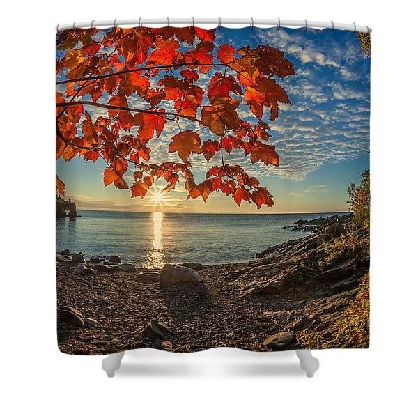 Autumn Bay Near Shovel Point Shower Curtain