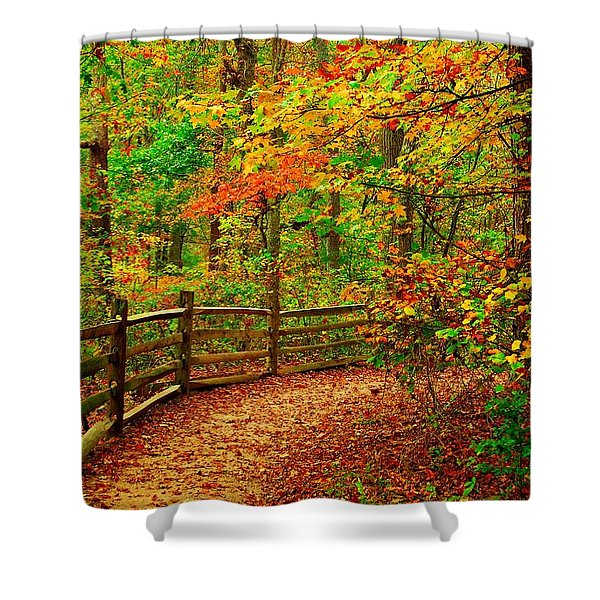 Autumn Bend - Allaire State Park Shower Curtain