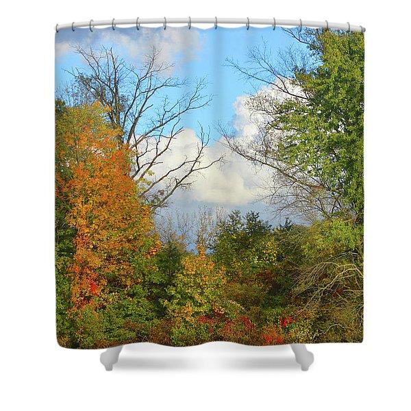 Autumn Breeze Nature Art Shower Curtain
