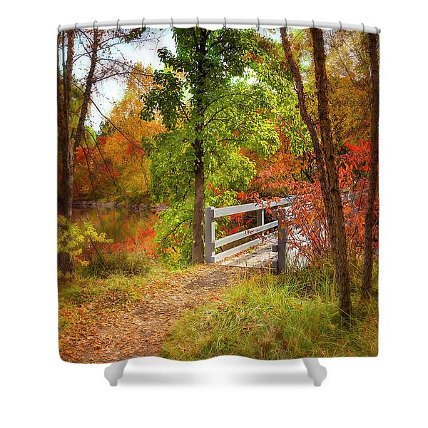 Autumn Bridge Shower Curtain