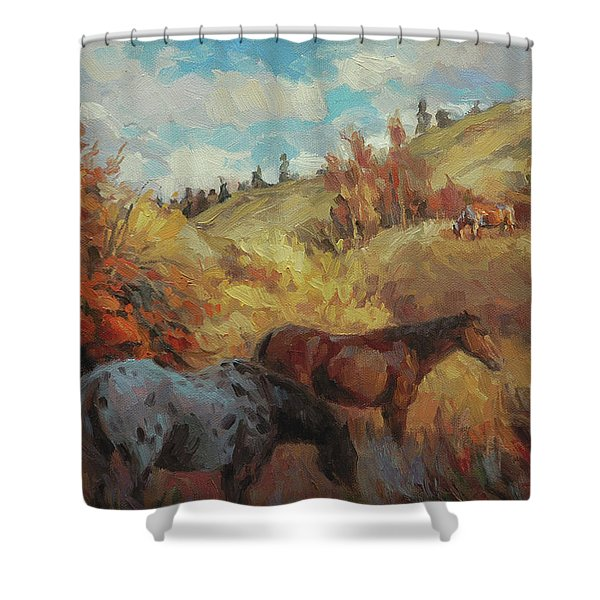 Autumn Browsing Shower Curtain