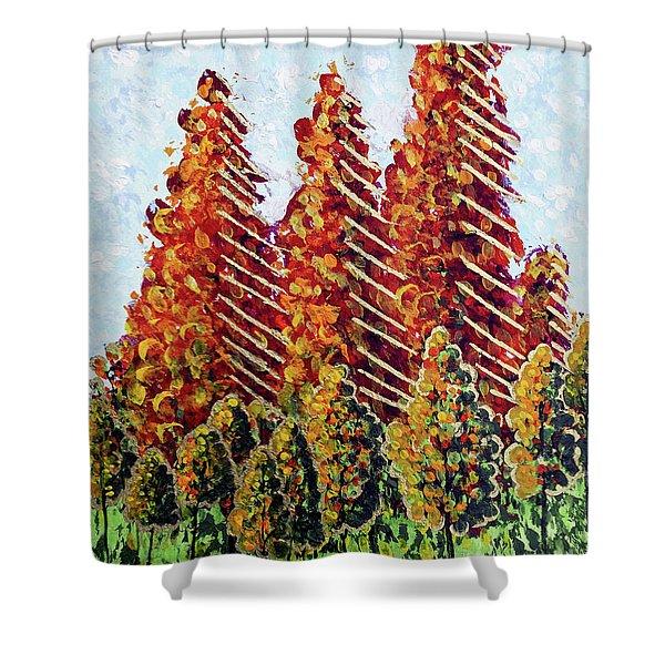 Autumn Christmas Shower Curtain