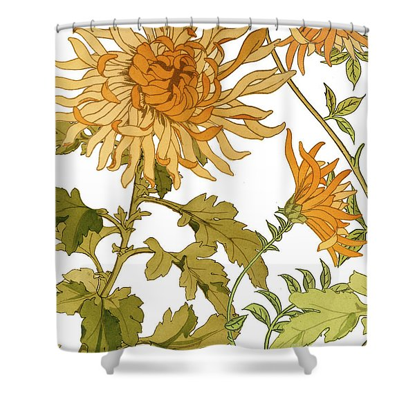 Autumn Chrysanthemums I Shower Curtain