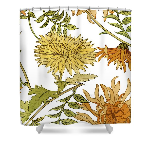 Autumn Chrysanthemums II Shower Curtain