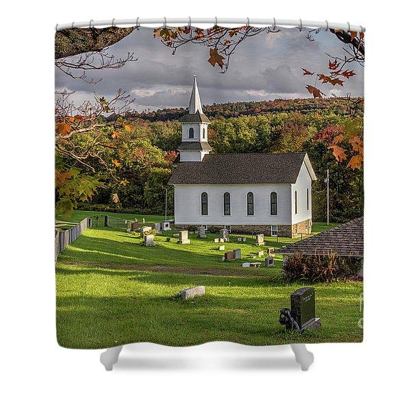 Autumn Church Shower Curtain