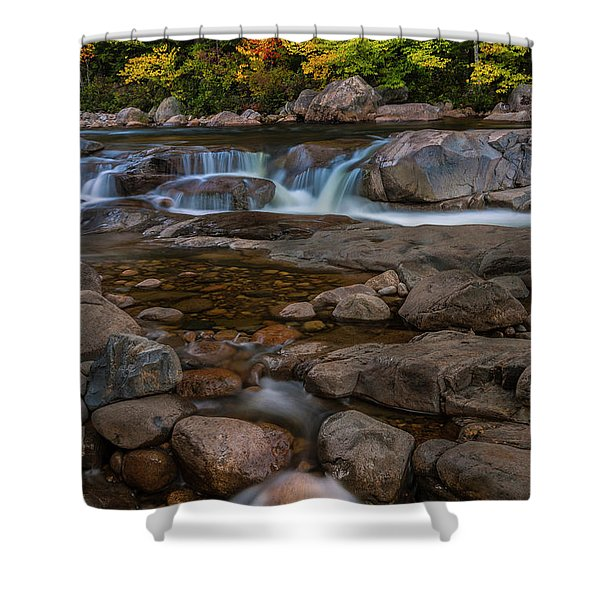 Autumn Colors In White Mountains New Hampshire Shower Curtain