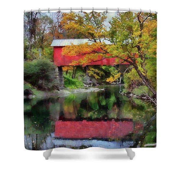 Autumn Colors Over Slaughterhouse. Shower Curtain