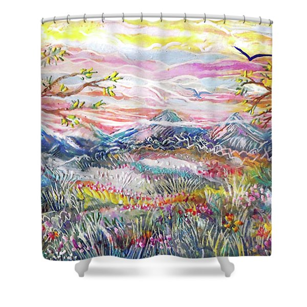 Autumn Country Mountains Shower Curtain