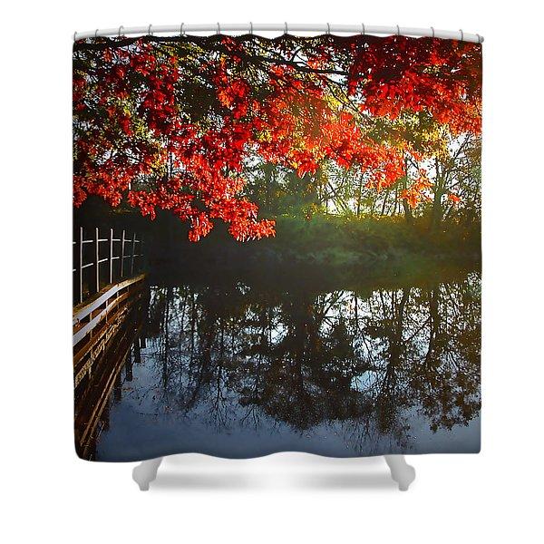 Autumn Creek Magic Shower Curtain