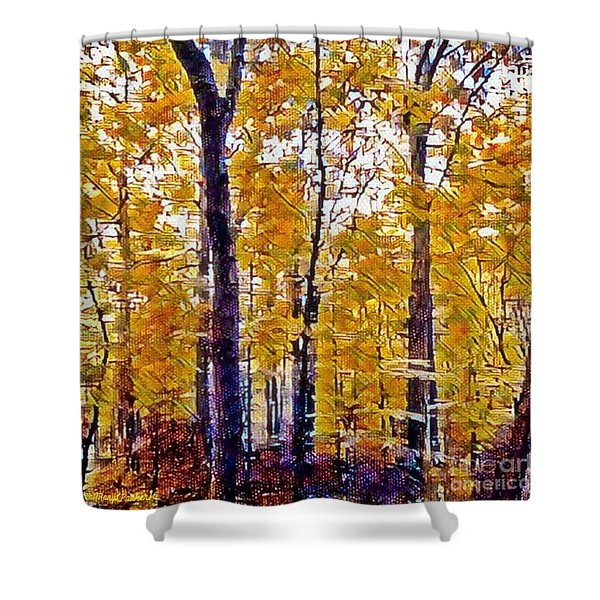 Autumn  Day In The Woods Shower Curtain