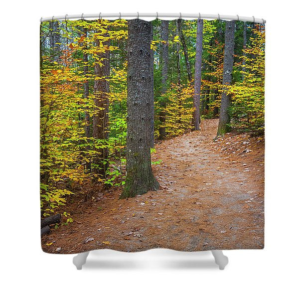 Autumn Fall Foliage In New England Shower Curtain