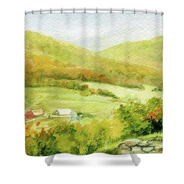Autumn Farm In Vermont Shower Curtain