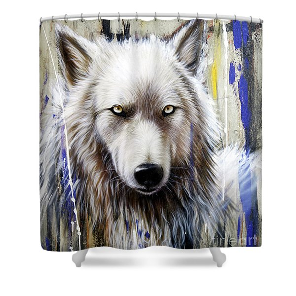 Shower Curtain featuring the painting Autumn Gold 2 by Sandi Baker