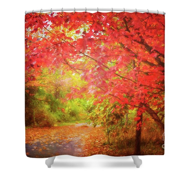 Glorious Foliage On The Rail Trail Shower Curtain