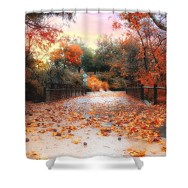 Autumn In Discovery Lake Shower Curtain
