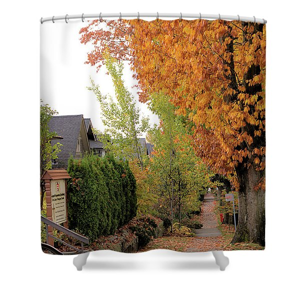 Autumn In The City Shower Curtain
