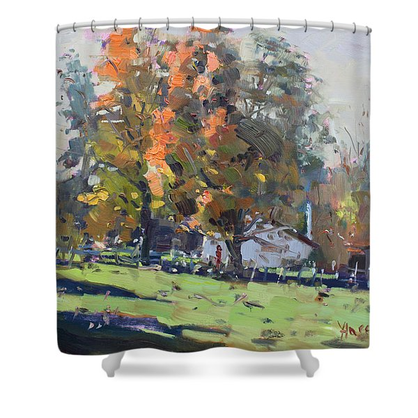 Autumn In The Farm Shower Curtain