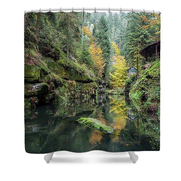 Autumn In The Kamnitz Gorge Shower Curtain