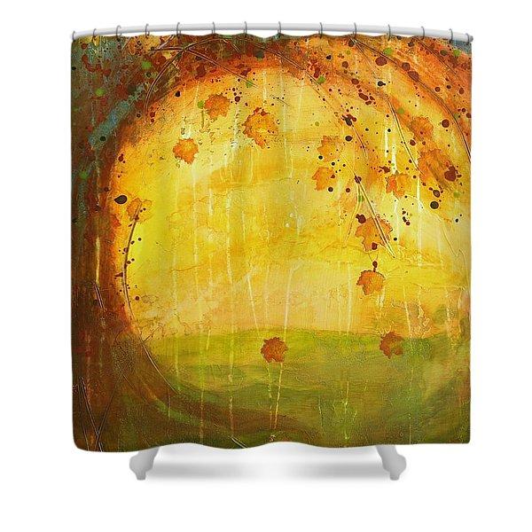 Autumn Leaves - Tree Series Shower Curtain