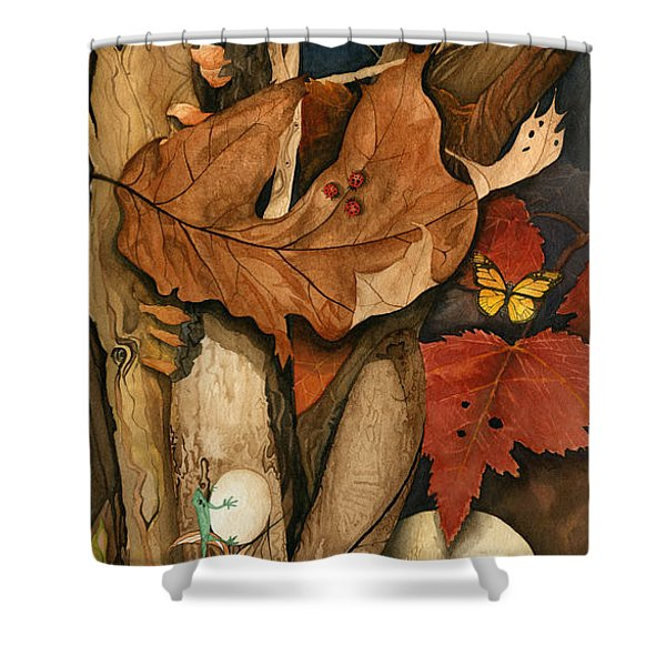 Autumn Leaves Falling Shower Curtain