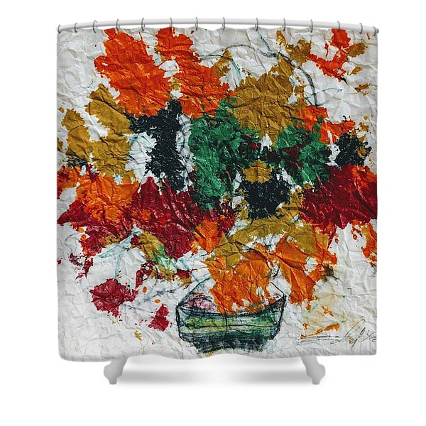 Autumn Leaves Plant Shower Curtain