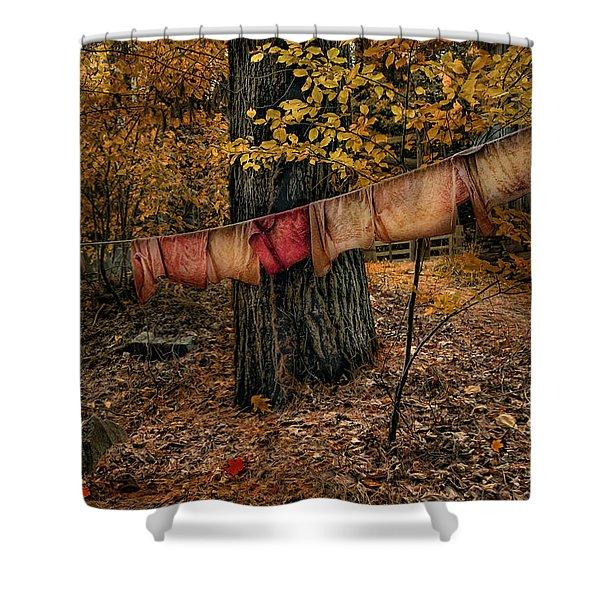 Autumn Linens Shower Curtain