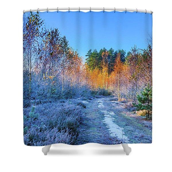 Autumn Meets Winter Shower Curtain