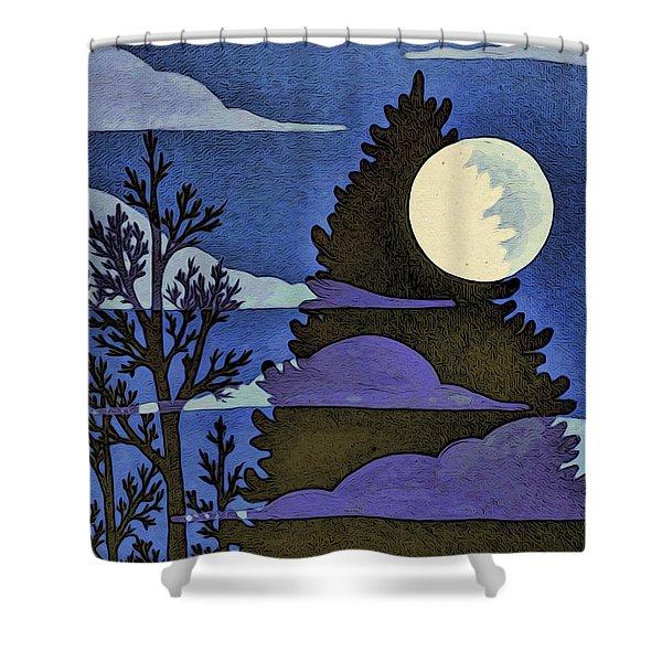 Autumn Moon Shower Curtain