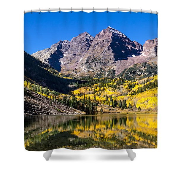 Autumn Morning At The Maroon Bells Shower Curtain