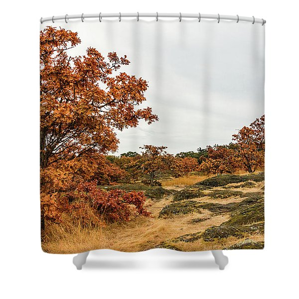 Autumn Oaks 3 Shower Curtain