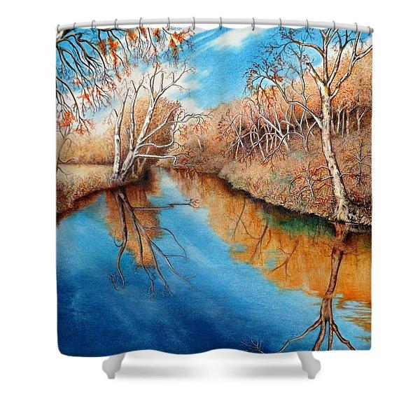 Autumn On The Elkhorn Shower Curtain