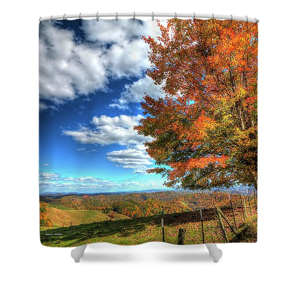 Autumn On The Windfall Shower Curtain