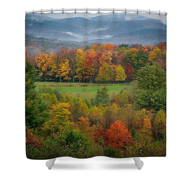 Autumn On Winslow Hill Shower Curtain