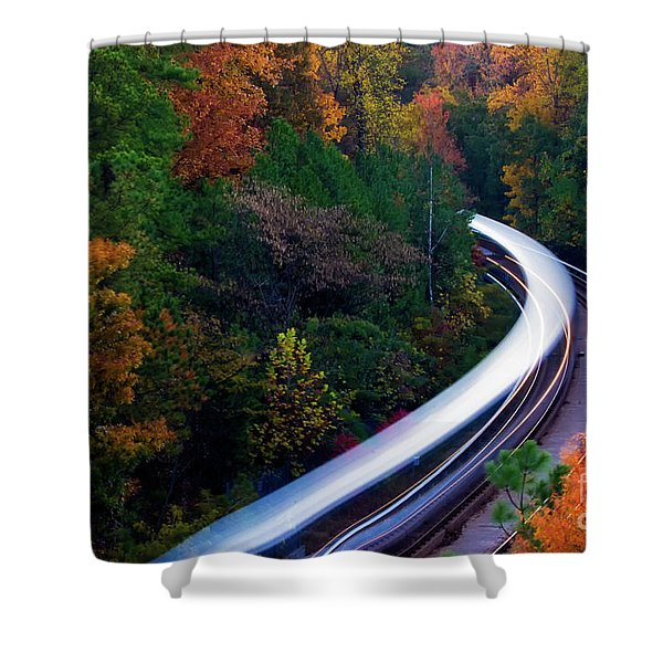 Autumn Rails Shower Curtain