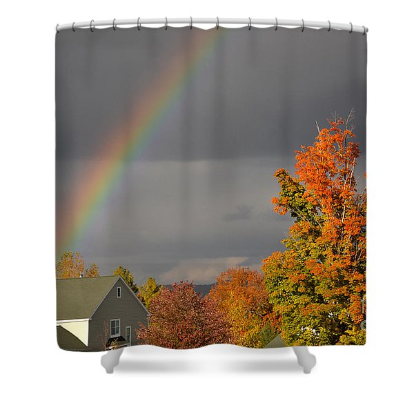 Autumn Rainbow Shower Curtain