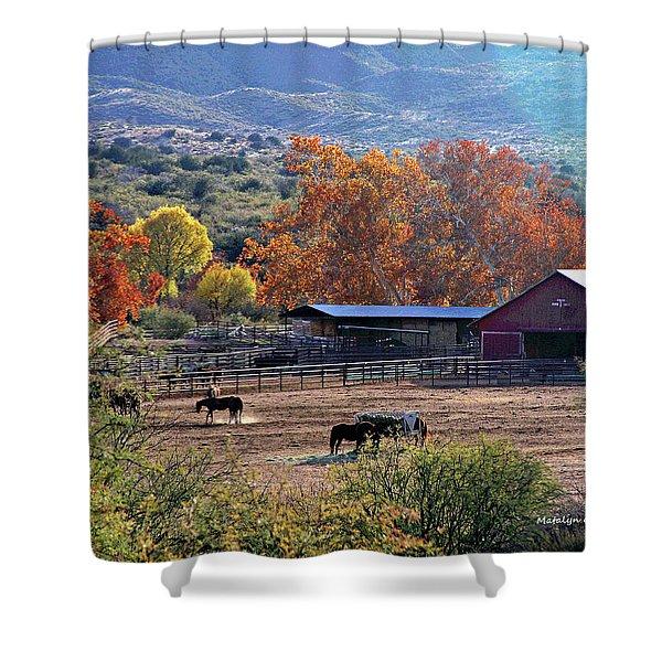 Autumn Ranch Shower Curtain
