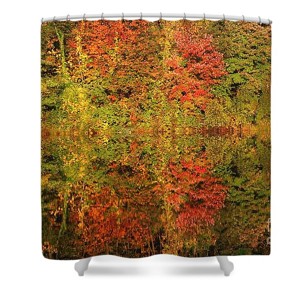 Autumn Reflections In A Pond Shower Curtain