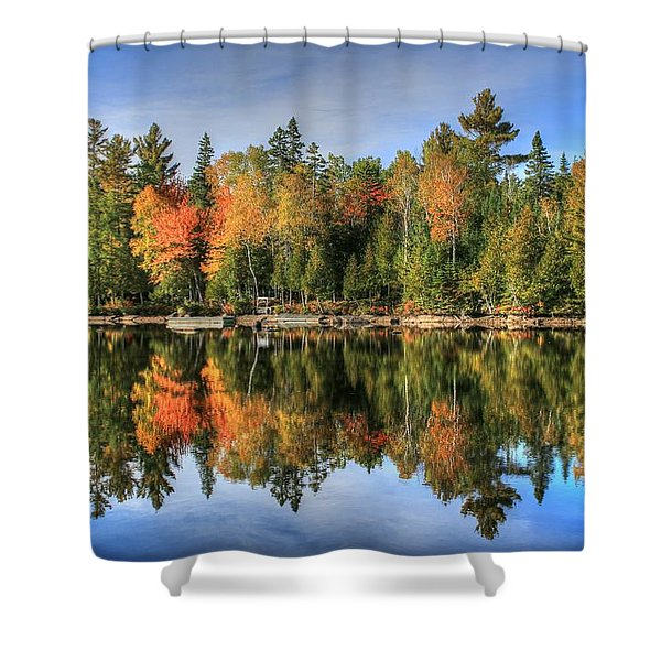 Autumn Reflections Of Maine Shower Curtain