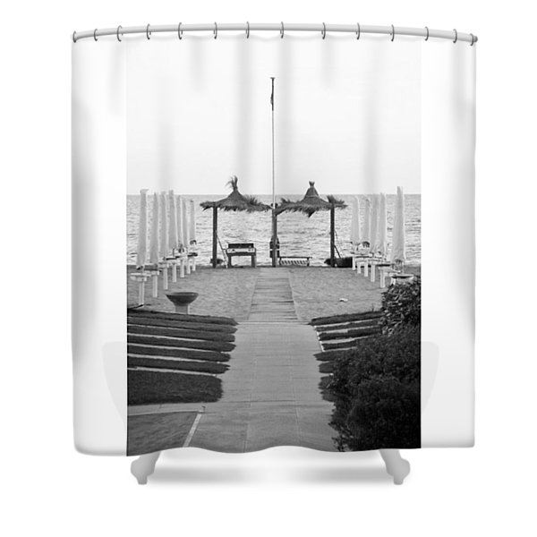#autumn #seaside #blackandwhiteitalia Shower Curtain