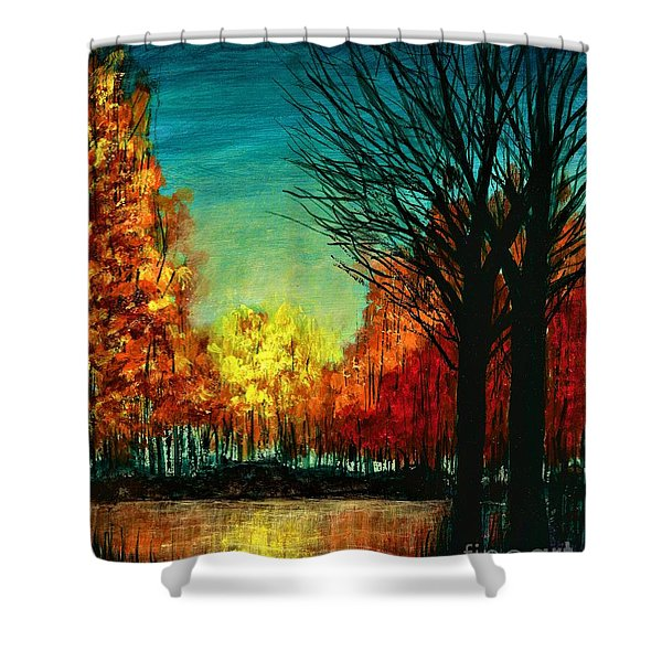 Autumn Silhouette  Shower Curtain