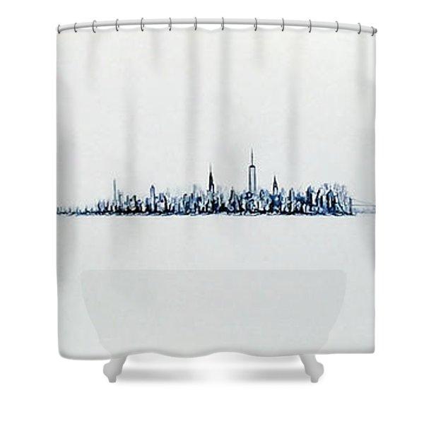 Autumn Skyline Shower Curtain