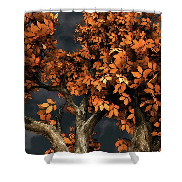 Autumn Storm Shower Curtain