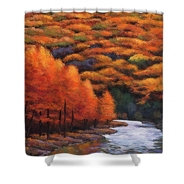 Autumn Stream Shower Curtain