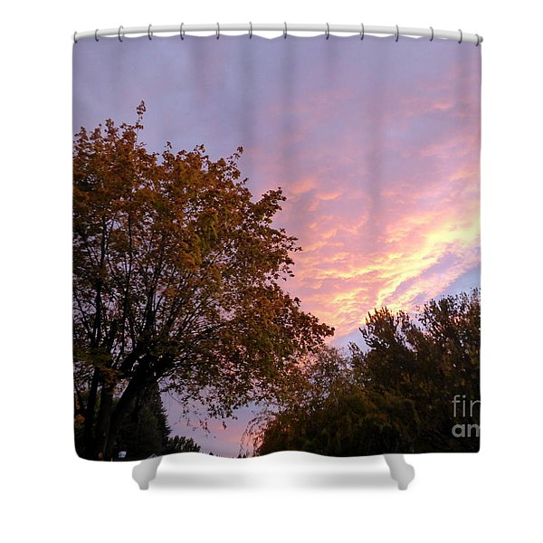 Shower Curtain featuring the photograph Autumn Sunset 2 by Charles Robinson