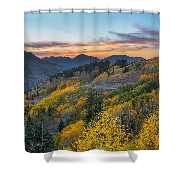 Autumn Sunset At Guardsman Pass, Utah Shower Curtain