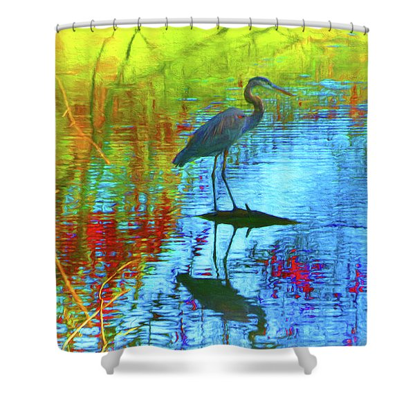 Autumn Tapestry Blue Shower Curtain