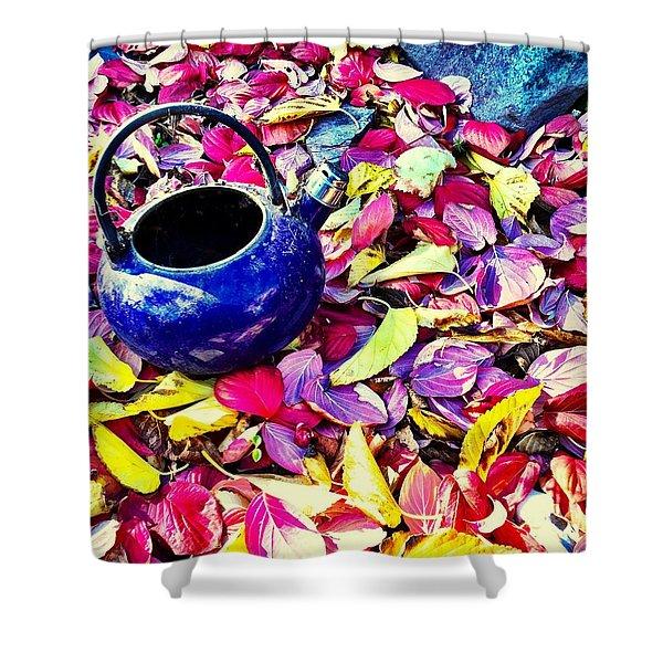 Autumn Tea Shower Curtain