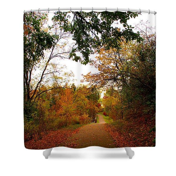 Autumn Trail Shower Curtain